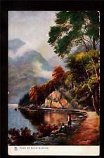 tuck path loch katrine trossachs scotland uk postcard