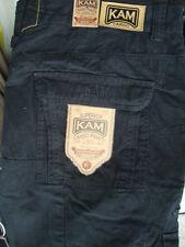 "Kam Pantalon Cargo Noir, Camouflage Ou Kaki 40"" 42"" 44"" 46"" 48"" 50"" 52"" 54"" 56"" 58"" 60"""