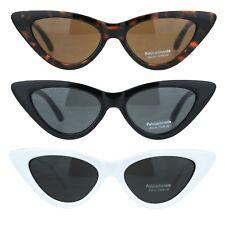 Womens Classic Mod Cat Eye Goth Plastic Sunglasses