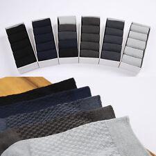 Mens Business Casual Socks Bamboo Fiber Middle Stockings Antibacterial