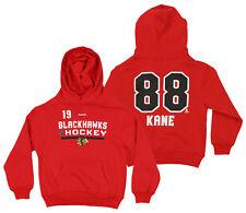Reebok NHL Kids Chicago Blackhawks Patrick Kane #88 Freeze Hoodie, Red