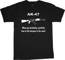 big and tall t-shirt AK-47 funny saying 2nd amendment tee shirt tall shirt men's