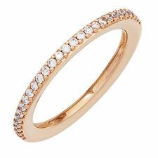 Anillo de mujer con 26 diamantes brillantes, Oro 585 rojo,sencillo & Elegante