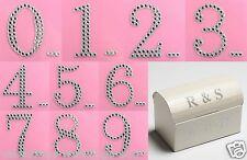 Large Self Adhesive Gem Diamante Numbers Cards Scrapbooking Embellishment Craft