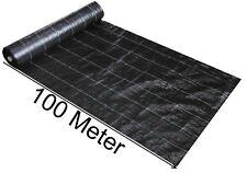 100m Bodengewebe Bändchengewebe Unkrautfolie Unkraut Schutz Gewebe 100g/m²