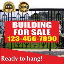 Building For Sale Banner Vinyl / Mesh Banner Sign Flag Rent Resale Store House