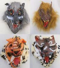Animale selvatico orrore maschere Monkey Leopardo Tigre LUPO DIAVOLO HALLOWEEN MASCHERA Spaventosa