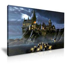 HARRY POTTER Hogwarts At Night Canvas Framed Print Art ~ More Size
