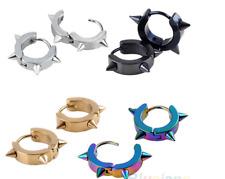 Unisex Titanium Steel Punk Rivet Earring Cool Spike Hoop Unisex Earrings