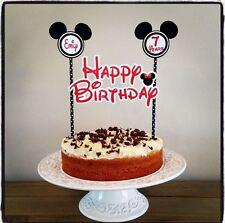 Personalizzata Minnie Mouse torta Bunting Banner Topper Decorazione Festa di Compleanno