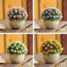 Outdoor Fake Artificial Ball Plants In Retro Pot Garden Office Home Decor