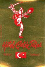 BURSA TURKEY HOTEL CELIK PALACE VINTAGE LUGGAGE LABEL