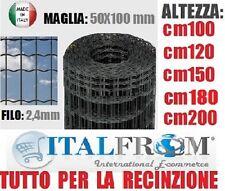 25mt ROTOLO RETE METALLICA ZINCATA PLASTIFICATA ANTRACITE-50x75cm-RECINZIONE