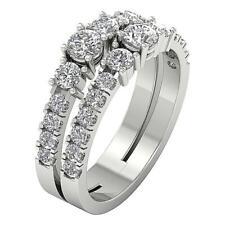 I1 G Natural Diamond 1.65 Ct Solitaire Anniversary Ring 14K White Gold Prong Set
