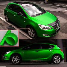 Green - Stretch Car Satin Chrome Matte Metallic Vinyl Wrap Sticker Air Free AB