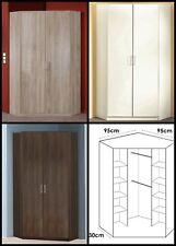 SlumberHaus Berlin German Made 2 Door Corner Wardrobe White Walnut Oak