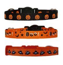 Negro Naranja Halloween Pumpkin Boo Araña Collar para Perro Cachorro o Chihuahua