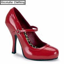 Funtasma Red Patent Pretty Mary Jane High Heel Pumps - 1950s Retro Rockabilly