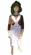 Boys Oompa Loompa Costume Kids Umpa Lumpa Fancy Dress Child Book Week Outfit