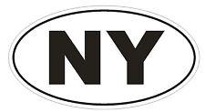 NY New York EURO OVAL Bumper Sticker or Helmet Sticker D478 Laptop TABLET