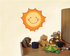 Süße Sonne Wandtattoo Wandaufkleber Kinderzimmer  2 Größen