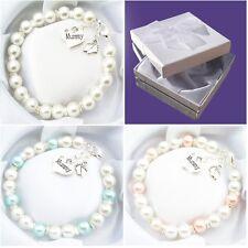 Baby Shower Gift Mum to be New Mummy Charm Bead Bracelet Pregnant Maternity Gift