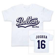 BOLTON Football Personalised Boys/Girls T-Shirt
