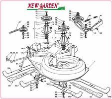 demonté plat de coupe rouler sur la tondeuse 92cm XG 160 HD CASTELGARDEN GGP
