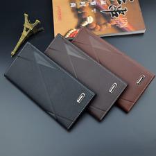 Men's Bifold PU Leather Wallet Long Zip Clutch Purse Credit Card Holder Handbag