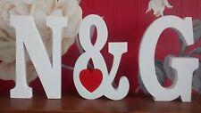 Grandes lettres en bois avec & SIGNE, numéros en bois