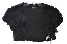 Jump Apparel Junior Short Sleeve Floral Faux Fur Open Bolero Shrug, XS, S, L