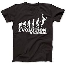 Basketball Evolution T-Shirt 100% Premium Cotton Gift Present Slam Dunk