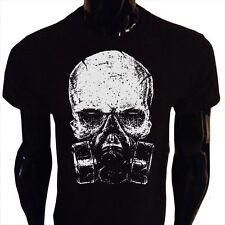 SKULL gasmask VELENO T-shirt da uomo s-5xl post-apocalittico goth rock punk biker