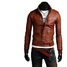 Giacca Giubbotto in Pelle Uomo Men Leather Jacket Veste Blouson Homme Cuir N15r