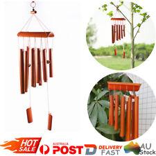 Bamboo Wind Chime Wood Garden Yard Ornament Feng Shui Fair Trade AU