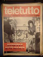 SOPHIA LOREN TELETUTTO 29 OTTOBRE 1961 N°24 ANNO I