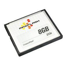Tarjeta de memoria Maxflash 8 gb CF Compact Flash 233x velocidad alta velocidad