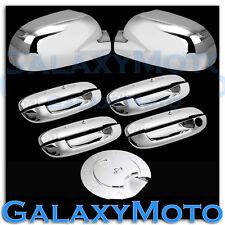 02-09 Chevy Trailblazer Chrome Mirror+4 Door Handle W/O PSG Keyhole+Gas Cover