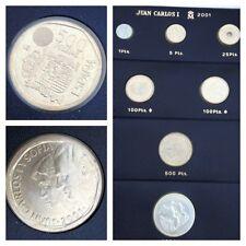 7 Münzen Spanien Münzen-Set Espana 2001 Juan Carlosi