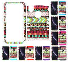 For Apple iPhone XR - KoolKase Armor Hybrid Slicone Cover Case - Pink Tribal 78