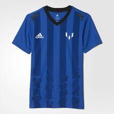 Adidas Garçons Training Officiel Messi Icon Tee Youth Kids T-Shirt Neuf Bleu/Blanc