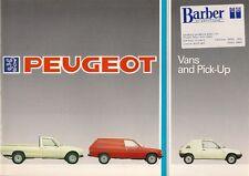 Peugeot 205 Van 305 Van 504 Pick-Up 1985-87 UK Market Sales Brochure