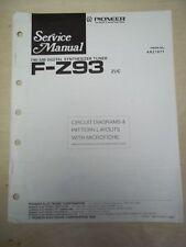 Pioneer Service Manual~F-Z93 Tuner~Original~Repair