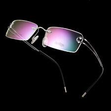 100 % Pure Titanium Women's Gold Rimless Flexible Eyeglass Frame Spectacles RX