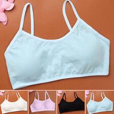 57ab694f548dd Girls Lace Underwear Underclothes Pure Color Comfy Sport Bra Vest Crop Top