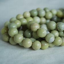 Grado a mantequilla Natural Preciosa redonda con cuentas de Jade - 6, 8, 10mm