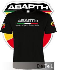 T-SHIRT FIAT ABARTH 595 FIA 500 ALFA ROMEO MAGLIETTA TRAINNING UOMO 100% COT NER