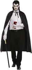 Unisexe adulte noir cape dracula halloween costume fancy dress