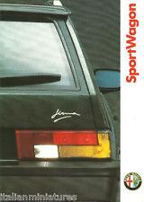 Alfa Romeo 33 Sportwagon Firma 4x4 Brochure Mint Condition Italian Language