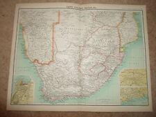 c1900 Map CAPE COLONY, NATAL ETC ~ J Bartholomew XXth Century Citizens Atlas
